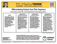 L-PTT-03-070 Differentiating Projects Imposters