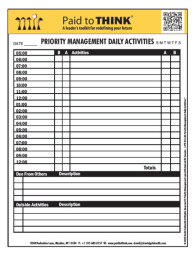 L-PTT-03-155 Priority Management Daily Activities