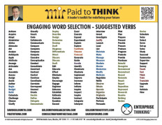 L-PTT-13-070 Engaging Verbs List